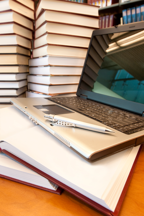 Books And Laptop In Li Ry Ins Ute For Effective
